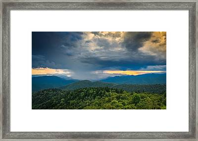 Framed Print featuring the photograph Here Comes The Rain by Joye Ardyn Durham