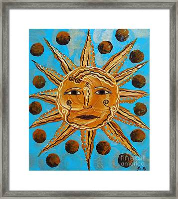 Here Comes The Sun Framed Print by Jean Fry