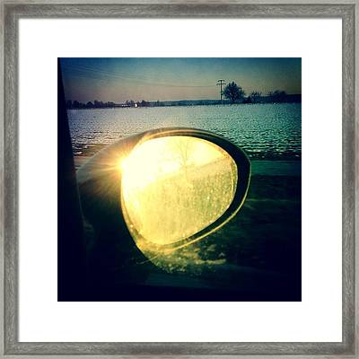 Here Comes The Sun Framed Print by Matthias Hauser