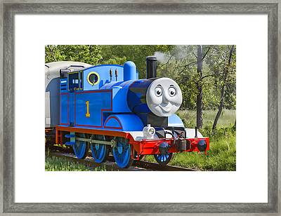 Here Comes Thomas The Train Framed Print by Dale Kincaid