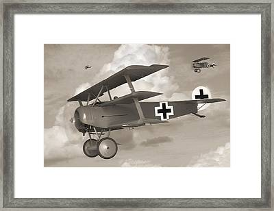Here Comes Trouble 3 Framed Print by Mike McGlothlen