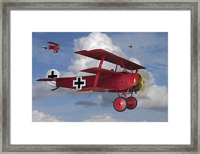 Here Comes Trouble Framed Print by Mike McGlothlen