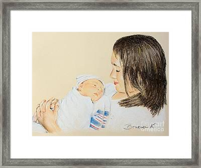 Here I Am Sister Framed Print by Katharina Filus