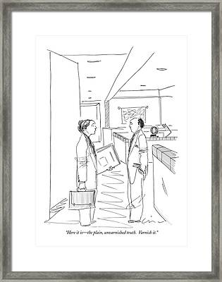 Here It Is - The Plain Framed Print