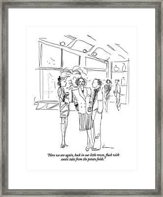 Here Framed Print by Richard Cline