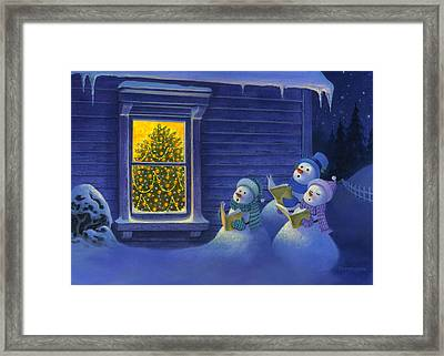 Here We Come A Caroling Framed Print