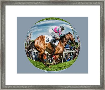 Here We Go Round In Circles Framed Print by Robert L Jackson
