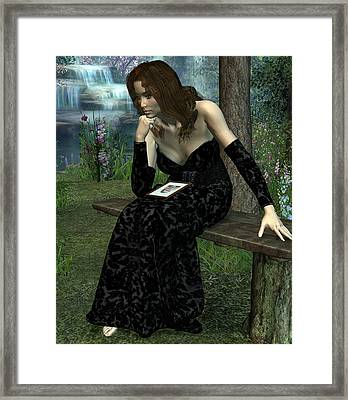 Framed Print featuring the digital art Here Without You by Jayne Wilson