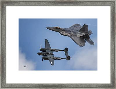Here You Go Air Force Framed Print