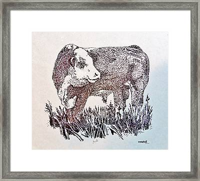 Polled Hereford Bull  Framed Print by Larry Campbell