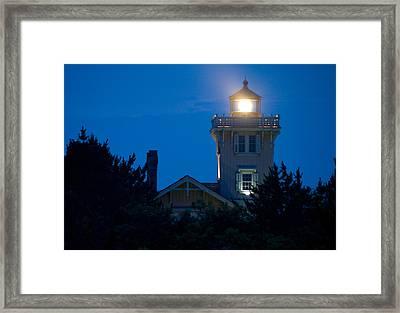 Hereford Inlet Lighthouse At Dusk Framed Print