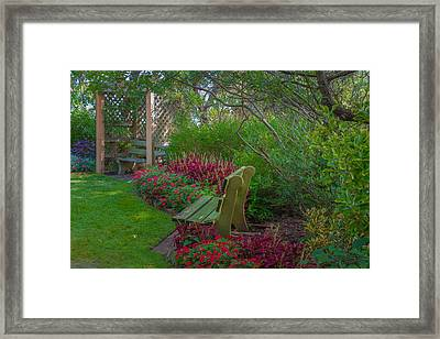 Hereford Inlet Lighthouse Garden Framed Print