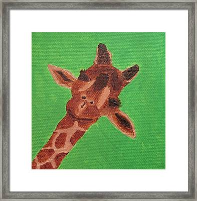 Here's Lookin' At You Framed Print by Edna Fenske