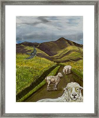 Framed Print featuring the painting Here's Looking At You Kid by Susan Culver