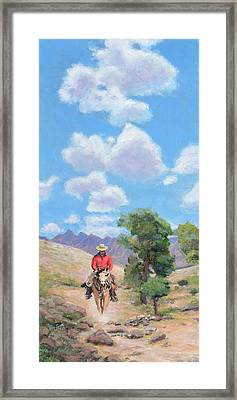 Here's To Blue Skies And Easy Trails Framed Print by Charles Wallis