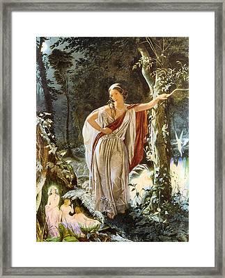 Heriia And The Fairies Framed Print by John Simmons