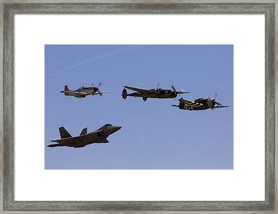 Heritage Flight Of Four Framed Print by John Daly