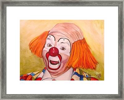 Watercolor Clown #9 Herky The Clown Framed Print by Patty Vicknair