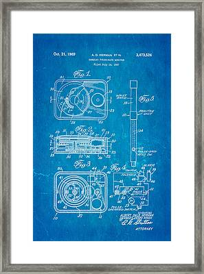Herman And Marx Cardiac Monitor Patent Art 1969 Blueprint Framed Print by Ian Monk