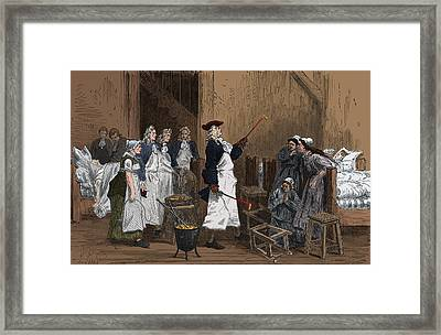 Herman Boerhaave Treating Hysteria Framed Print by Science Source
