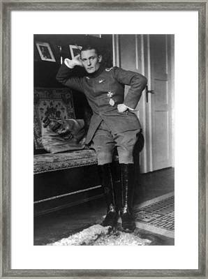 Herman Goering, Convalescing From A Hip Framed Print