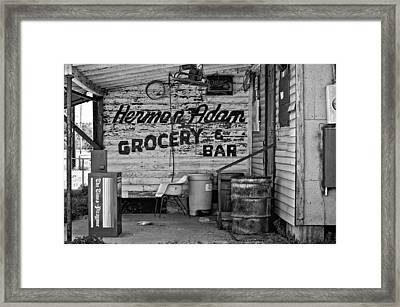 Herman Had It All Bw Framed Print by Steve Harrington