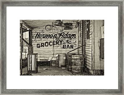 Herman Had It All - Sepia Framed Print by Steve Harrington