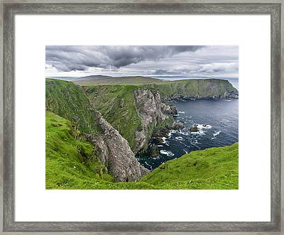 Hermaness National Nature Reserve Framed Print by Martin Zwick