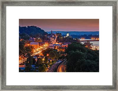 Hermann Missouri - A Most Beautiful Town Framed Print by Tony Carosella