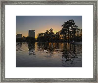 Hermann Park Sunset One Framed Print by Joshua House