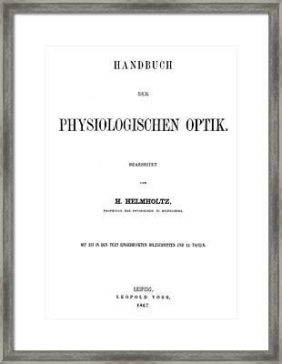 Hermann Von Helmholtz (1821-1894) Framed Print by Granger