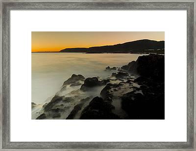 Hermanus Sunset Framed Print by Aaron Bedell