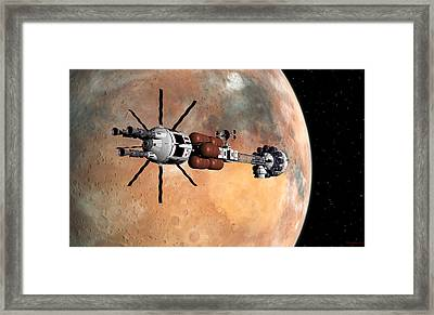 Hermes1 Mars Insertion Part 1 Framed Print
