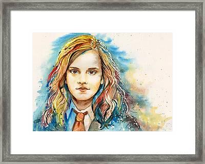 Hermione  Framed Print by Alina Kurbiel