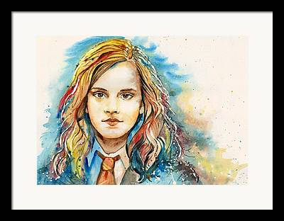 Hermione Granger Paintings Framed Prints