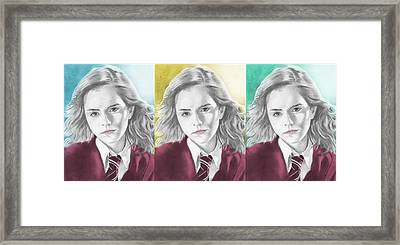 Hermione Granger - 3up One Print Framed Print by Alexander Gilbert