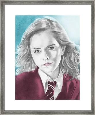 Hermione Granger - Individual Blue Framed Print