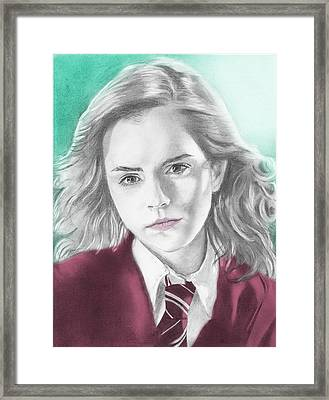 Hermione Granger - Individual Green Framed Print
