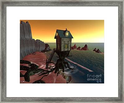 Framed Print featuring the digital art Hermit by Susanne Baumann