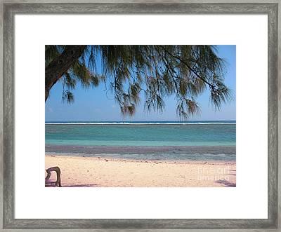 Hermitage - Ile De La Reunion - Reunion Island - Indian Ocean Framed Print by Francoise Leandre