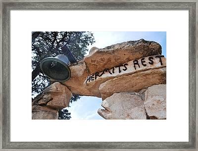 Hermits Rest Framed Print