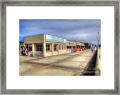 Hermosa Beach Boardwalk Framed Print
