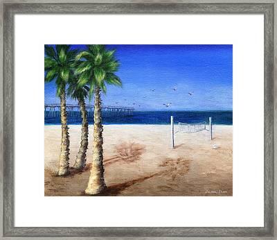 Hermosa Beach Pier Framed Print by Jamie Frier