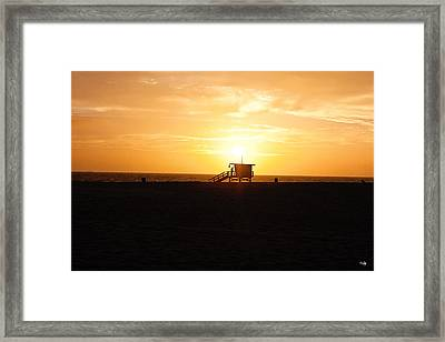 Hermosa Beach Sunset Framed Print by Scott Pellegrin