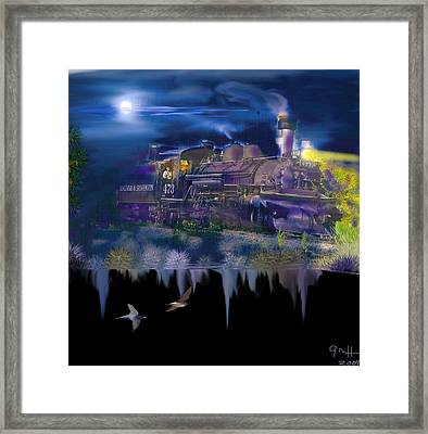 Hermosa Night Framed Print