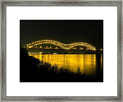 Hernando De Soto Bridge 002 Framed Print