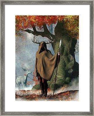 Herne The Hunter Framed Print by Daniel Eskridge