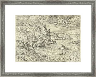 Hero And Leander, Hieronymus Cock, Matthys Cock Framed Print