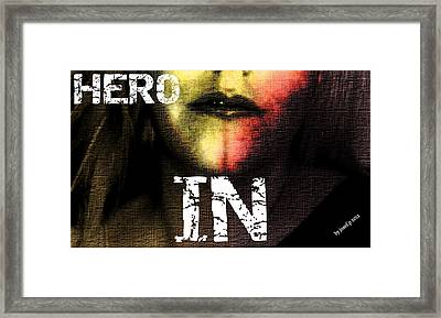 Framed Print featuring the photograph Hero In Part One by Sir Josef - Social Critic - ART