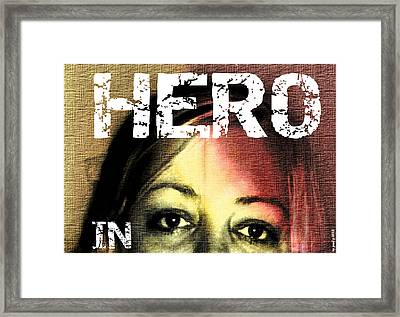 Framed Print featuring the photograph Hero In Part Two by Sir Josef - Social Critic - ART